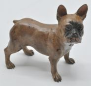 A vintage cold painted bronze figurine of a French