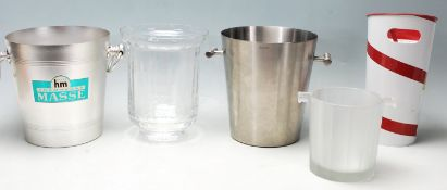 VINTAGE ADVERTISING CHAMPAGNE ICE BUCKETS