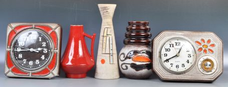COLLECTION OF WEST GERMAN FAT LAVA POTTERY