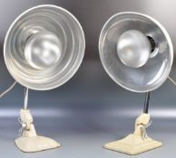 TWO ORIGINAL PIFCO HEAT LAMPS CONVERTED TO ELECTRICITY