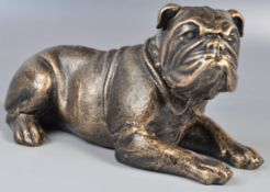 ANTIQUE STYLE BRONZE EFFECT FIGURE OF A BULL DOG