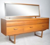 WILLIAM LAWRENCE TEAK WOOD DRESSING TABLE CHEST OF SIX DRAWERS