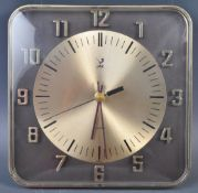JAZZ ELECTRICAL MID CENTURY BATTERY OPERATED WALL CLOCK
