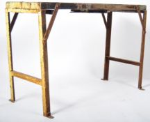 MIS CENTURY INDUSTRIAL CONSILE / WORKMANS TRESTLE FOLDING TABLE