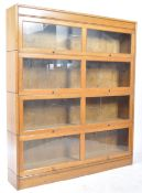 EARLY 20TH CENTURY FOUR SECTION LAWYERS STACKING BOOKCASE