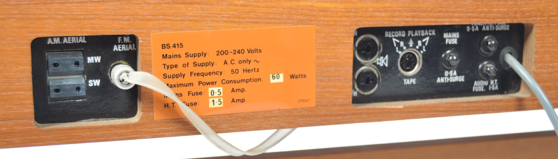 STUNNING DECCA SOUND TEAK CASED AUDIO SYSTEM RAISED ON CHROME SUPPORTS - Image 7 of 8