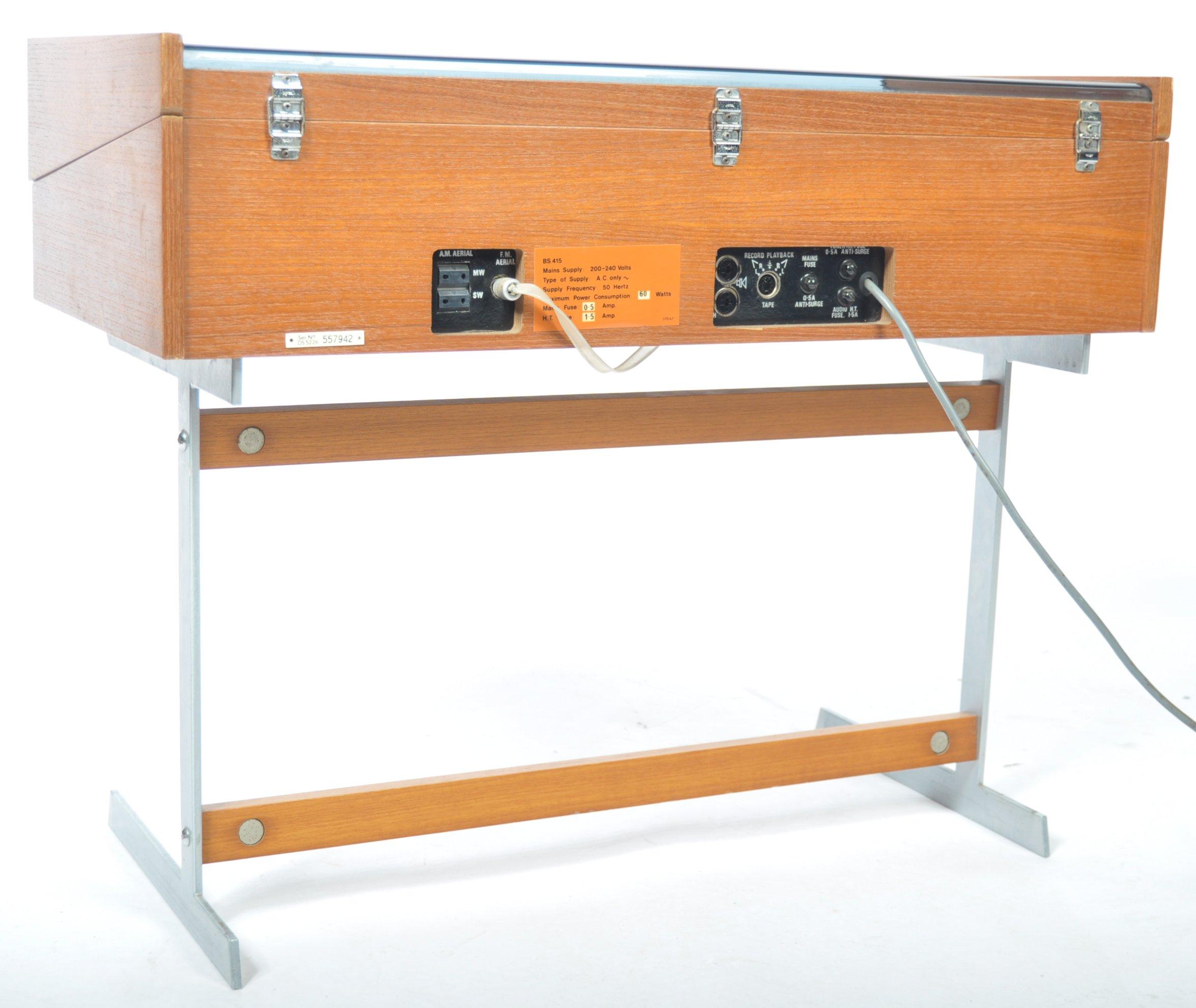 STUNNING DECCA SOUND TEAK CASED AUDIO SYSTEM RAISED ON CHROME SUPPORTS - Image 6 of 8