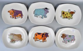 WASHINGTON POTTERY STEAK AND GRILL COW PLATE