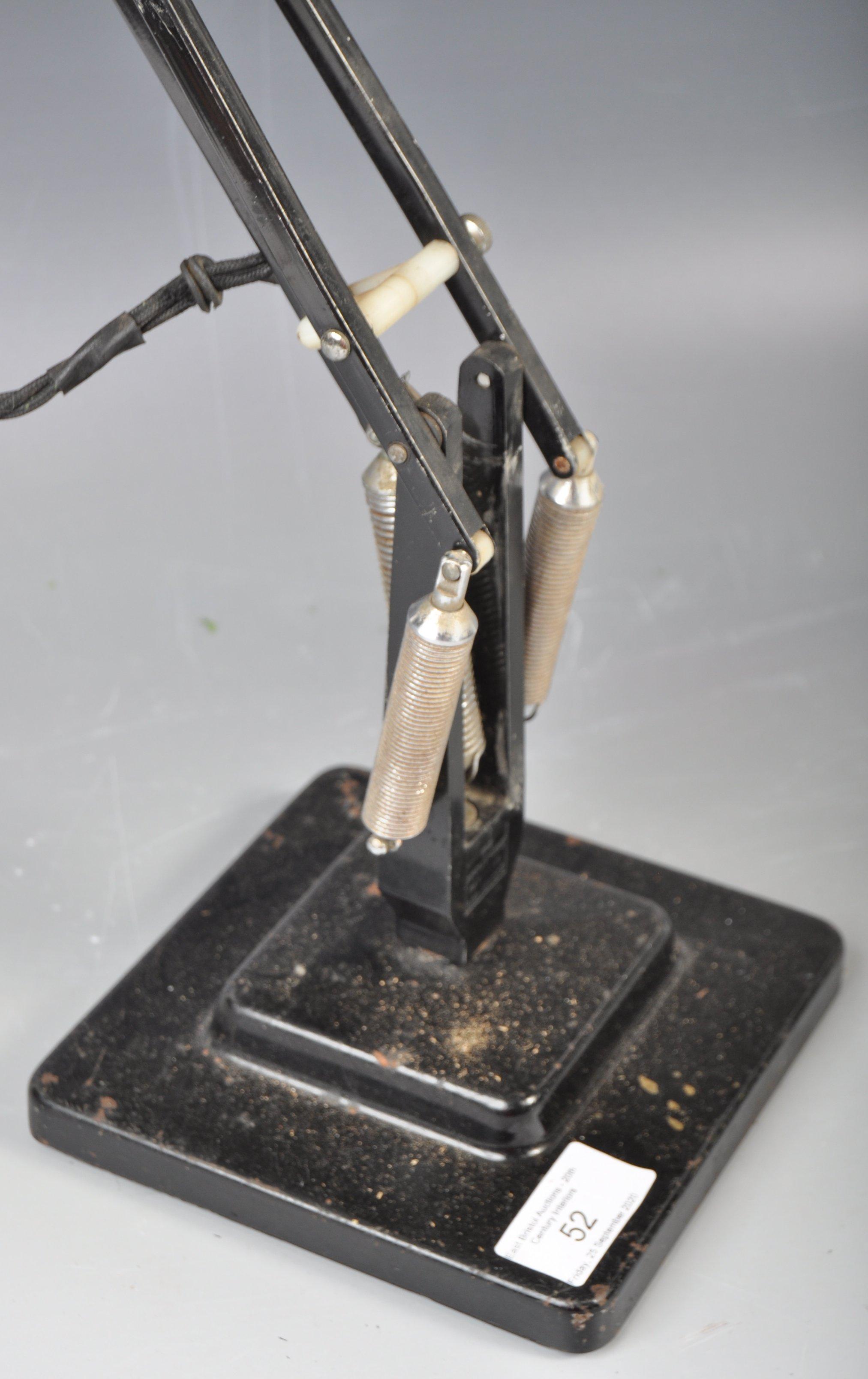 Lot 52 - HERBERT TERRY STEPPED ANGLEPOISE LAMP MODEL 1227 IN BLACK