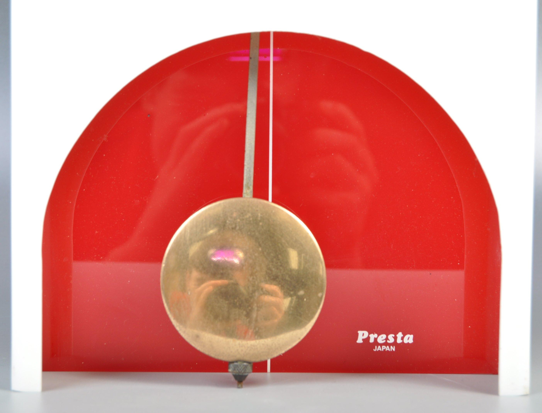 PRESTA JAPANESE RETRO 1970'S ACRYLIC WALL HANGING CLOCK - Image 3 of 4