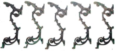 GOOD SET OF FIVE LATE 19TH CENTURY VICTORIAN CAST IRON TABLE LEGS