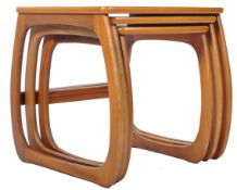 NATHAN BURLINGTON NEST OF THREE TEAK WOOD TABLES