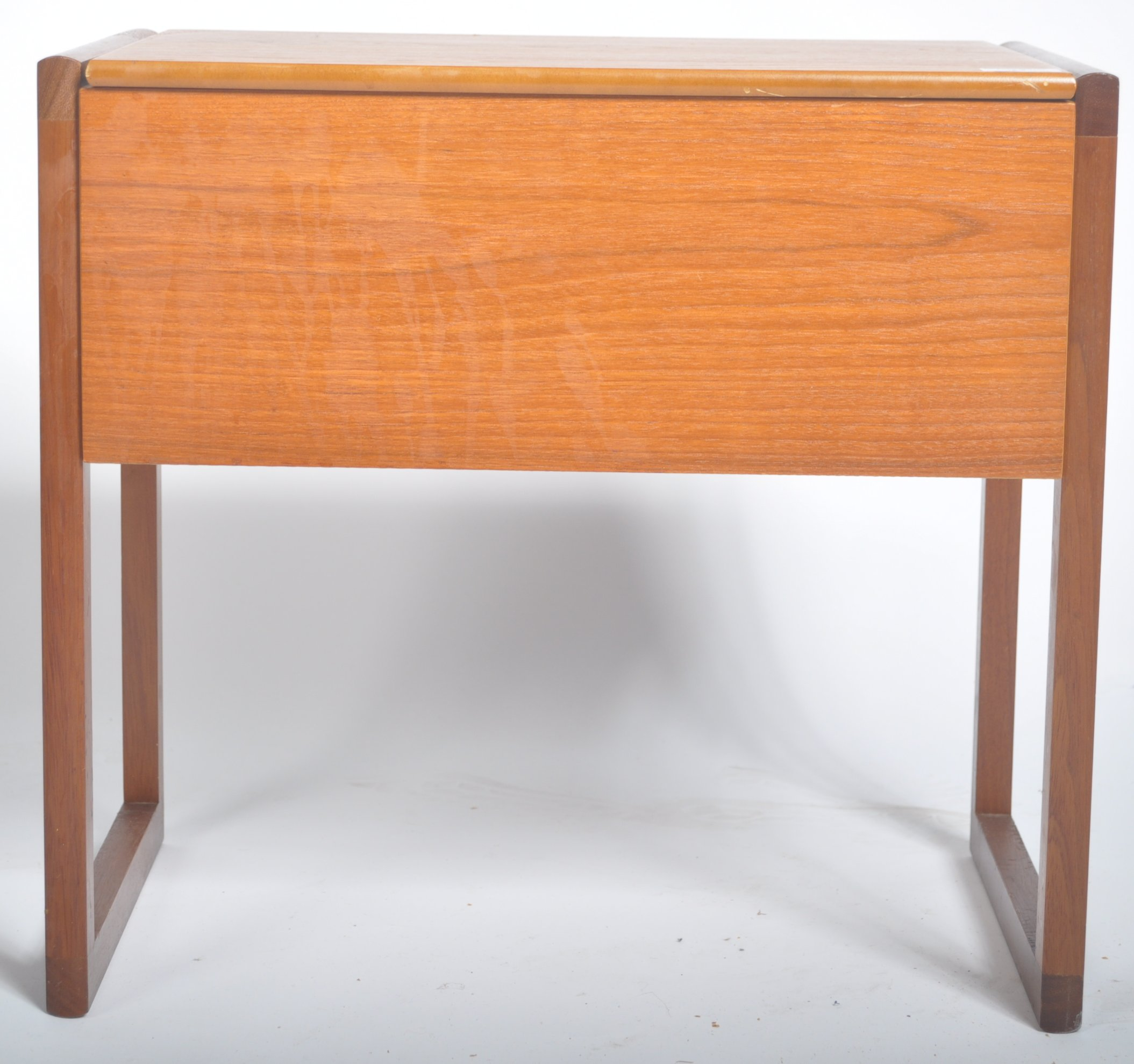 Lot 37 - REX FURNITURE MID CENTURY SEWING WORK BOX STOOL OF SQUARE FORM