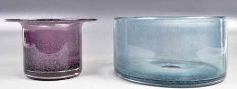 TWO PIECES OF KINGS LYNN STUDIO ART GLASS