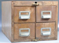GOOD MID CENTURY INDUSTRIAL OFFICE METAL TABLE TOP FILING CABINET