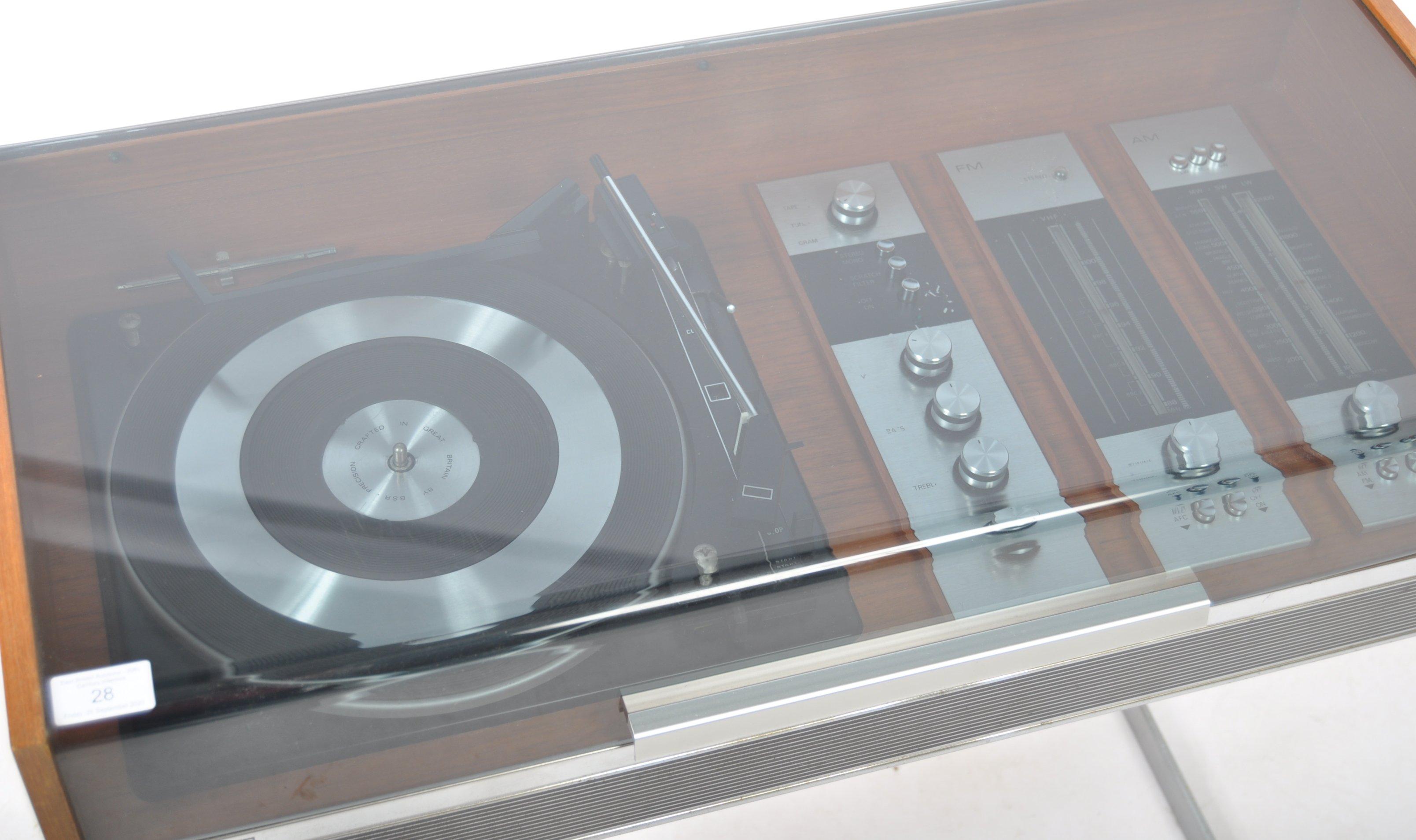 STUNNING DECCA SOUND TEAK CASED AUDIO SYSTEM RAISED ON CHROME SUPPORTS - Image 2 of 8
