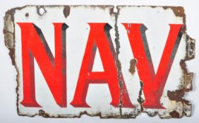 PLAYER'S NAVY CUT PART ENAMEL ADVERTISING SHOP SIGN