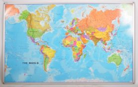 LARGE AND IMPRESSIVE MAGNETIC WHITEBOARD WORLD MAP