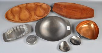 COLLECTION OF 20TH CENTURY DANISH STAINLESS STEEL ITEMS