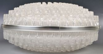 STUNNING ORIGINAL 20TH CENTURY RETRO PLASTIC CEILING LIGHT