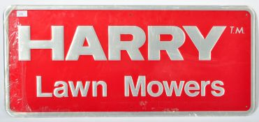 HARRY LAWN MOWERS 1980'S POINT OF SALE ADVERTISING SIGN
