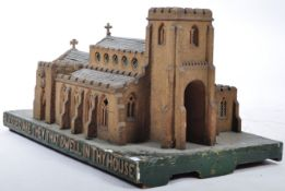 INCREDIBLE LARGE MODEL OF A CHURCH WITH FULLY APPOINTED INTERIOR
