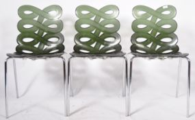 CIACCI KREATY - GINO CAROLLO - MATCHING SET OF THREE DIVA STACKING CHAIRS