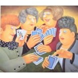 BERYL COOK SIGNED PRINT A FULL HOUSE FROM THE ALEXANDER GALLERY