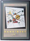 KANDINSKY 1980'S MUSEUM EXHIBITION POSTER FOR BAUHAUS ARCHIV MUSEUM