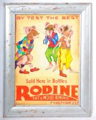 RODINE RAT AND MOUSE REMOVER OIL ON BOARD IMPRESSION OF A ENAMEL SIGN