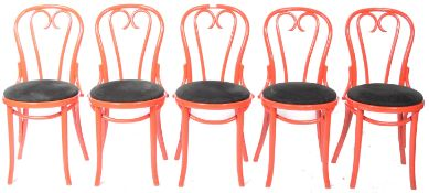 SET OF NINE RETRO VINTAGE THONET STYLE BENTWOOD CAFE DINING CHAIRS
