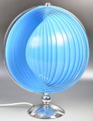 VERNER PANTON FOR LOUIS POULSEN MOON LAMP LIGHT HAVING A BLUE ARTICULATED SHADE