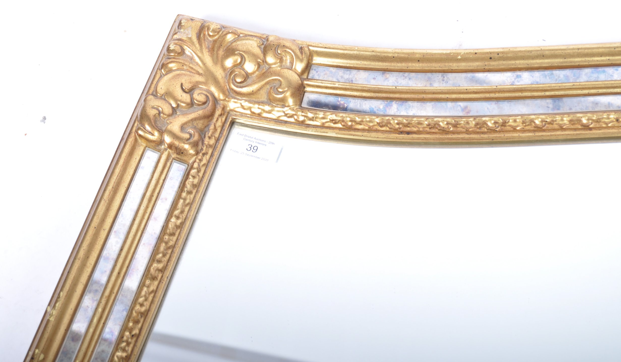 CONTEMPORARY ANTIQUE STYLE GILT FRAMED WALL HANGING MIRROR - Image 4 of 6