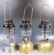 GROUP OF THREE RETRO VINTAGE TILLEY LAMPS MODEL 171
