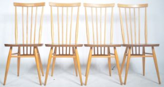 LUCIAN ERCOLANI FOR ERCOL SET OF FOUR DINNING CHAIRS MODEL 391