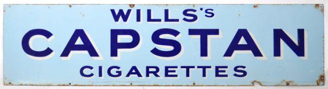 WILLS CAPSTAN ENAMEL ADVERTISING POINT OF SALE SIGN