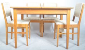 GORDON RUSSELL OF BROADWAY VINTAGE WALNUT DINING SUITE