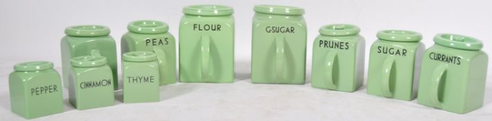 COLLECTION OF POUNTNEY & CO BRISTOL KITCHEN IN PASTEL GREEN