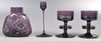 RONALD STENNETT WILSON COLLECTION OF AMETHYST PURPLE GLASSWARE