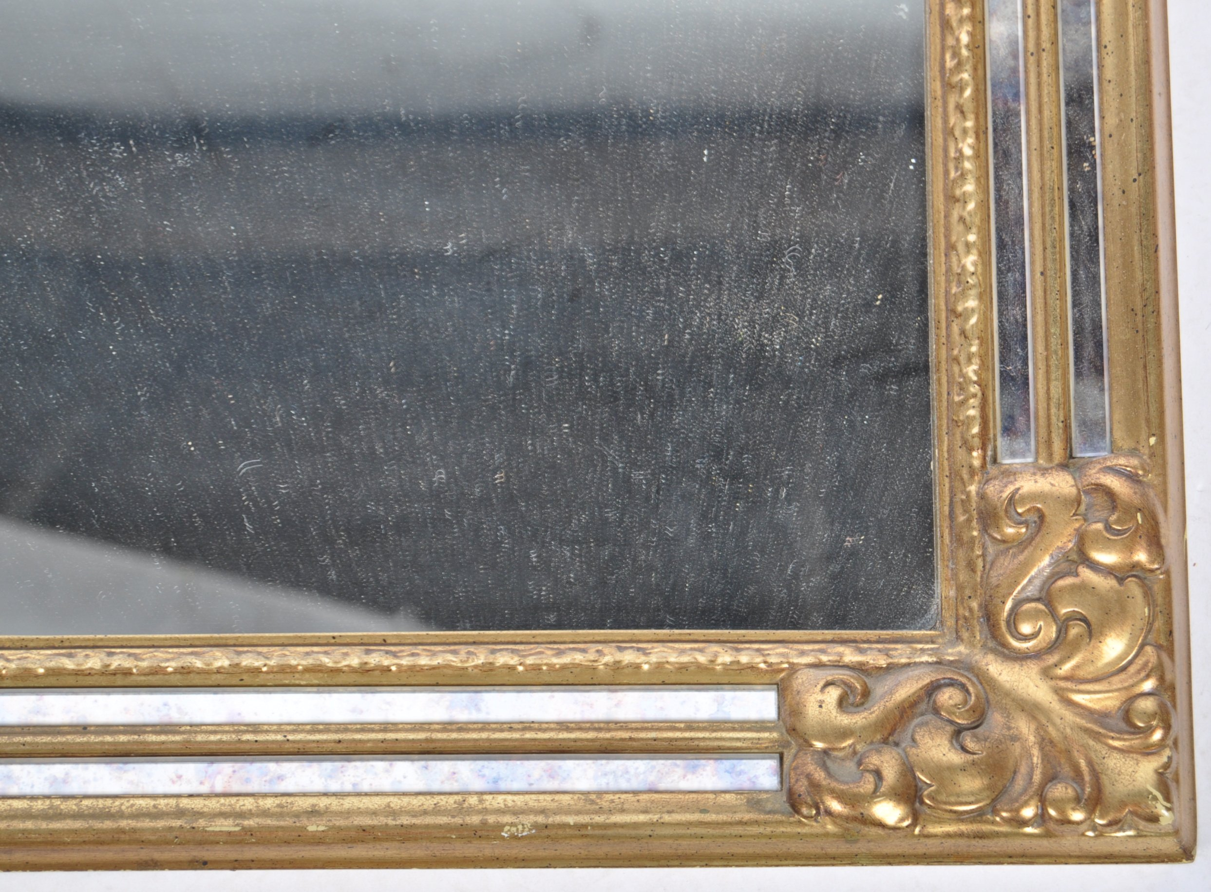 CONTEMPORARY ANTIQUE STYLE GILT FRAMED WALL HANGING MIRROR - Image 5 of 6
