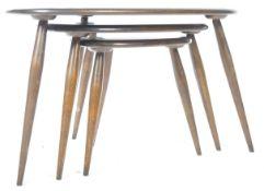 LUCIAN ERCOLANI - ERCOL MODEL 354 PEBBLE NEST OF TABLES