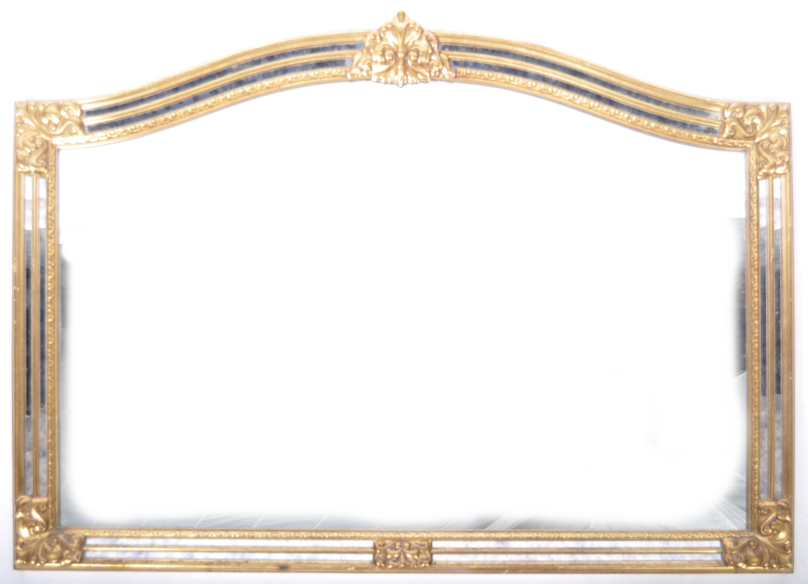 CONTEMPORARY ANTIQUE STYLE GILT FRAMED WALL HANGING MIRROR