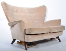 E GOMME FOR G PLAN 1950'S TWO SEATER SOFA SETTEE