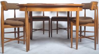 G PLAN FRESCO RANGE ROUND EXTENDING TABLE AND SIX MATCHING CHAIRS