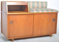 CHIPPY HEATH MID CENTURY TELEPHONE TABLE SEAT OF TEAK CONSTRUCTION