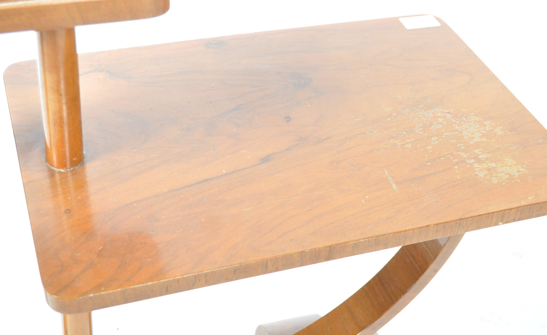 STUNNING ART DECO WALNUT SMOKER'S TABLE / SIDE TABLE - Image 3 of 4