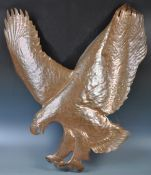 FABULOUS RETRO HAMMERED AND MOULDED COPPER ART IN THE FORM OF A EAGLE