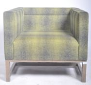 LYNDON DESIGN - ORTEN ARMCHAIR / LOUNGE CHAIR UPHOLSTERED IN GREEN AND GREY
