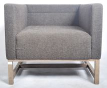 LYNDON DESIGN - ORTEN ARMCHAIR / LOUNGE CHAIR HAVING GREY UPHOLSTERY