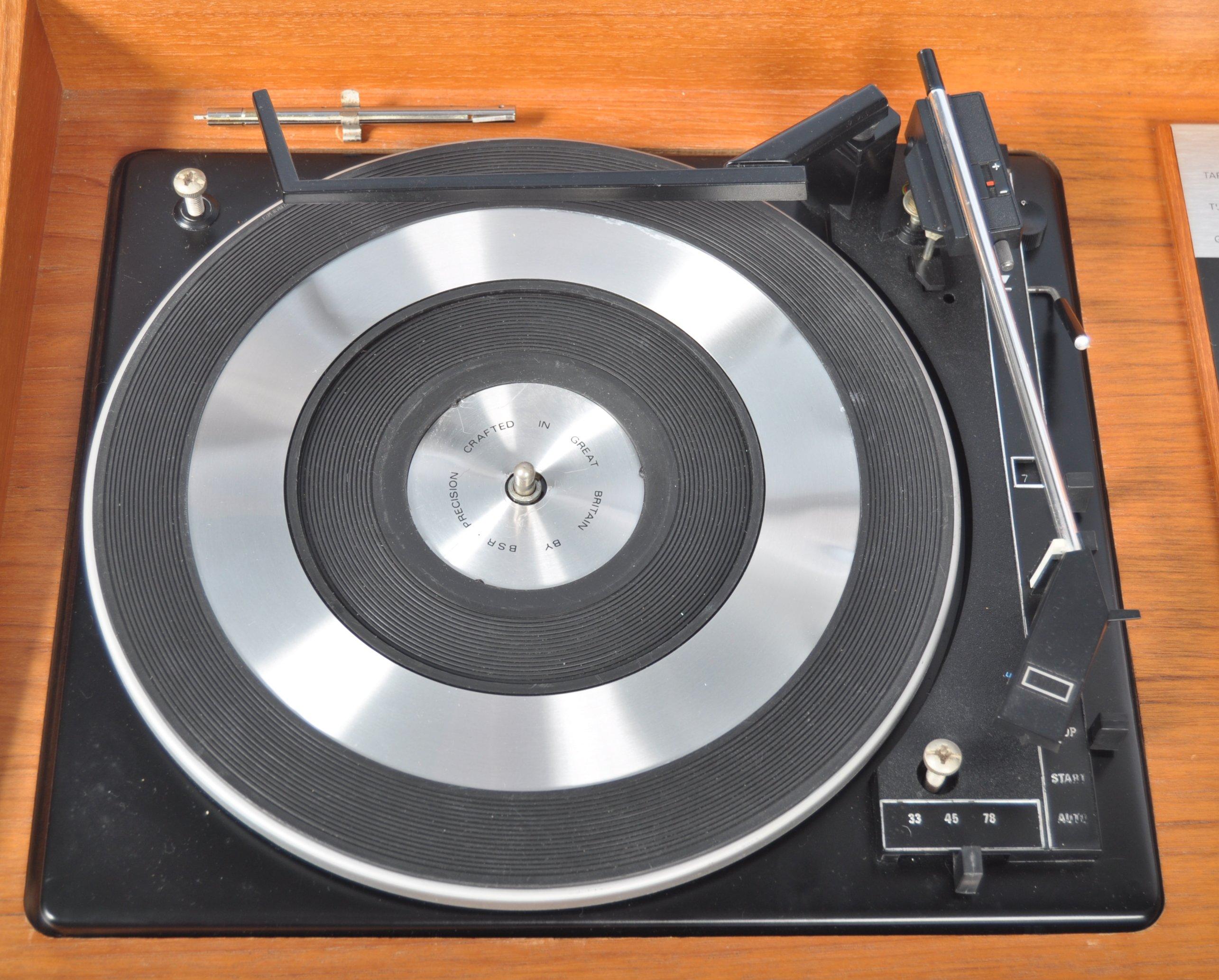 STUNNING DECCA SOUND TEAK CASED AUDIO SYSTEM RAISED ON CHROME SUPPORTS - Image 4 of 8